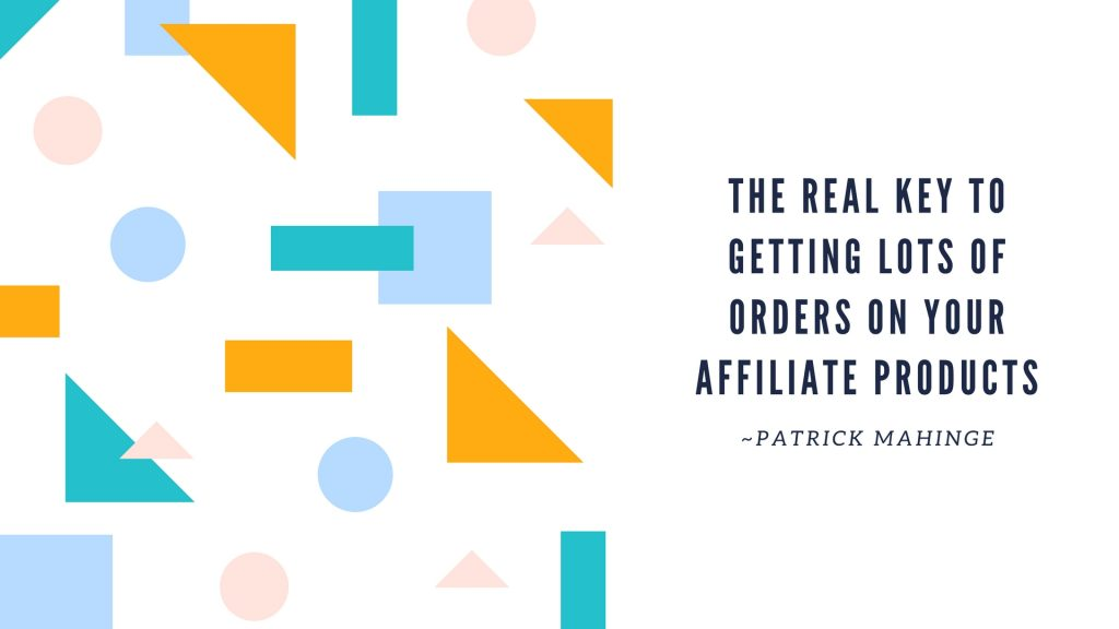 getting affiliate click orders
